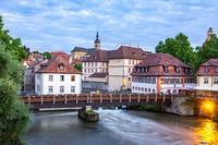 Bridge accross the river Regnitz in Bamberg