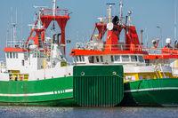Supply vessels offshore activities in Dutch harbor Lauwersoog