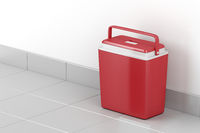 Red cooling box