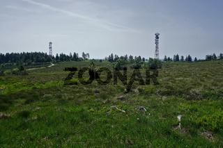 Hornisgrinde im Schwarzwald, Türme und Hochmoorvegetation