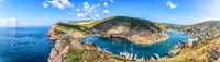 Balaklava Bay in Crimea, Ukraine, beautiful summer panorama