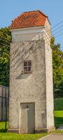 Trafohaeuschen, Umspannstation in Mindersdorf, Landkreis Konstanz