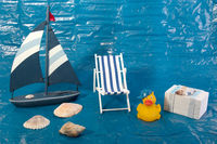 Summer Vacation Concept with toy duck