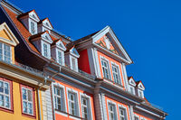 Traditional houses in the historic part of Erfurt, Thuringia, Germany