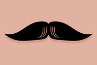 English Moustache Icon Vector