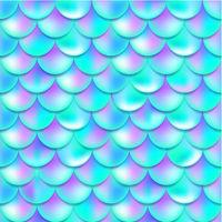 Pearl purple and blue mermaid scales seamless pattern