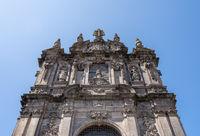 Entrance to church of Torres dos Clerigos in Porto