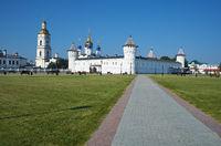 The view of Tobolsk Kremlin from the Red square. Tobolsk. Tyumen Oblast. Russia