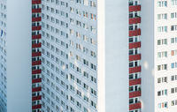 tall tenement building - residential apartment house -