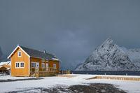 Sakrisoy fishing village on Lofoten Islands, Norway