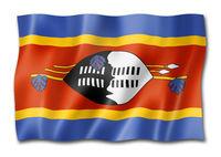 Swaziland flag isolated on white