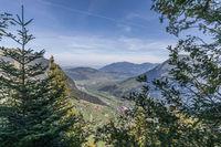 Aussicht auf den Vierwaldstättersee, Wirzweli, Nidwalden, Schweiz, Europa