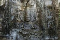Brahma, Vishnu and Mahesh, Hadshi Temple, Sant Darshan Museum, near tikona Vadgoan Maval, District Pune, Maharashtra, India