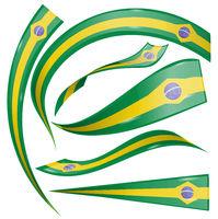 brazil flag element isolated on white background
