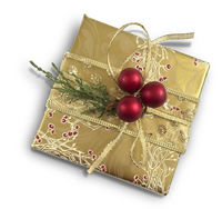 Gift for Christmas on a white background.