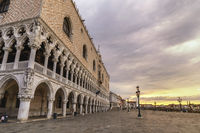 Venice Italy, sunrise city skyline at Saint Mark Square (Piazza San Marco)