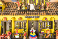 miniature reproduction of a typical Colombian house