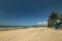 Scenic Agonda Beach, South Goa, India.