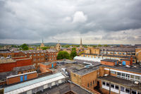 Oxford skyline as seen from the top of Carfax Tower. Oxford University. England
