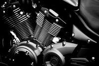 Glänzender Motorrad Motorblock