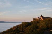 Morning view to the german palais Waldeck