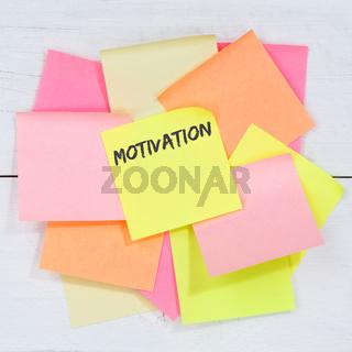 Motivation strategy coaching training success successful business concept desk note paper