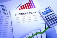 Business Plan mit Tabellen und Diagrammen
