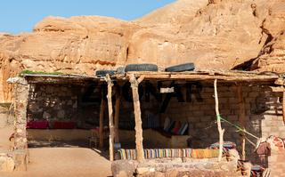 Bedouin hut in  Egypt