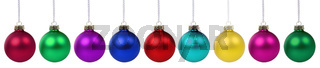 Weihnachten Weihnachtskugeln Banner Farben Kugeln Dekoration Freisteller