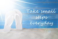 Sunny Summer Background, Quote Take Small Steps Everyday