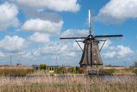 Windmill in Kinderdijk near Rotterdam Netherlands