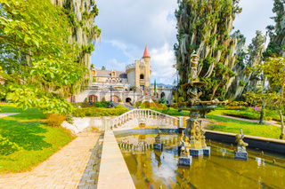 Castle Museum view from the garden Medellin Colombia