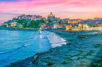 View of Porto Maurizio on the Italian Riviera in the province of Imperia
