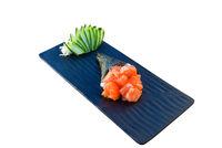 Salmon sashimi temaki roll. Japanese sea food