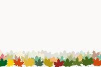 Ahornblätter in Herbst Farben