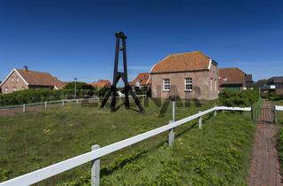 Häuser im Zentrum auf Baltrum