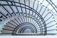 modern semicircle staircase