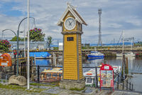 Ravnkloa Clock On The Canal,  Trondheim, Norway