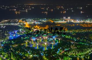 Gardens Bay Singapore harbor night