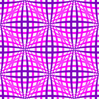 Pink geometric seamless background with optical illusion pattern