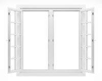 open window isolated on white background. 3d illustration