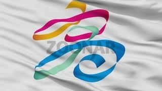 Kaohsiung City Flag, China, Closeup View