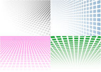 Set of Abstract Halftone Background