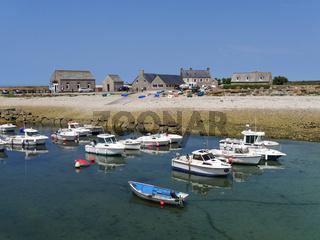der kleine Hafen von Goury in der Normandie