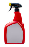 Isolated Red Spray Bottle