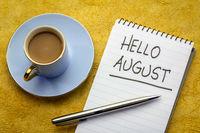 Hello August handwriting