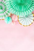 Rosa Hintergrund mit Party Dekoration