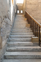 Staircase leading to the minaret Ibn Tulun mosque, Cairo, Egypt