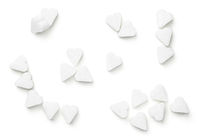 Sugar Cubes In Shape Of Heart Isolated