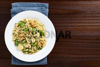Vegan Salad of Barley, Broad Beans and Cauliflower
